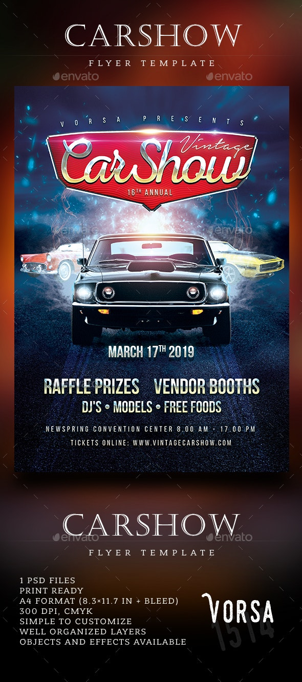 CarShow Flyer Template - Events Flyers