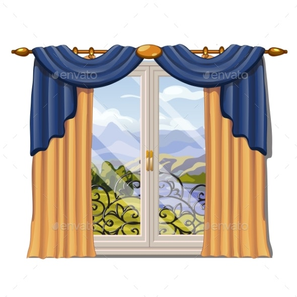The Window Overlooking the Sunny Meadow of Green - Landscapes Nature