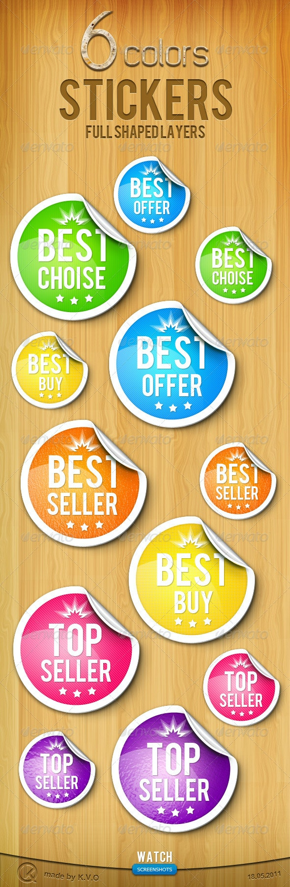 Sheet Rubber Stickers - Badges & Stickers Web Elements