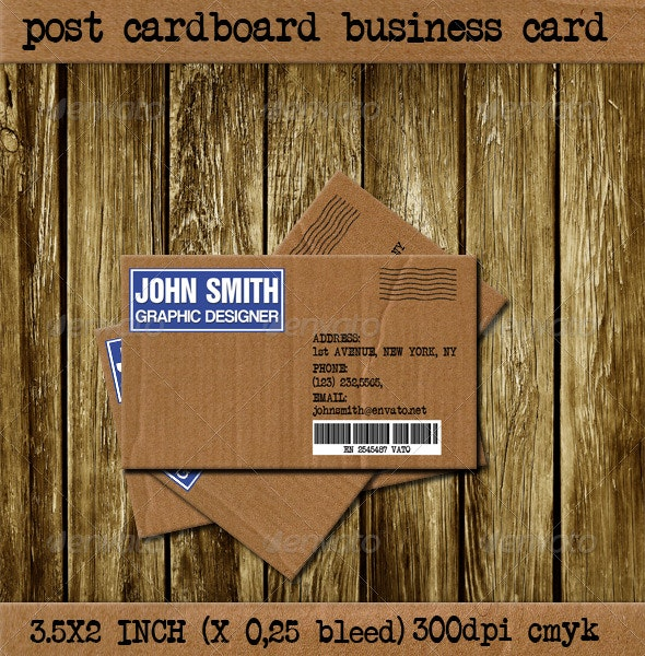 Post Cardboard Business Card - Creative Business Cards
