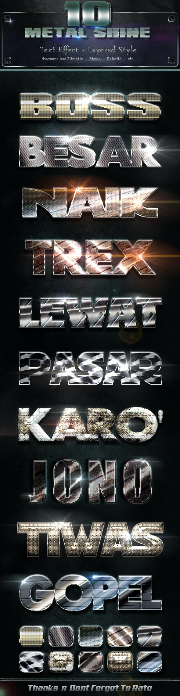 Metal Shiny v3 - Text Effects Styles