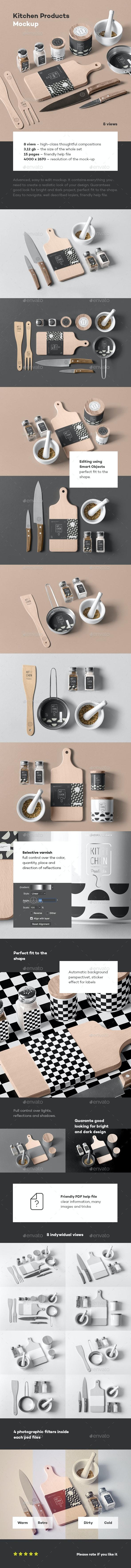 Kitchen Branding Mock-up - Miscellaneous Print