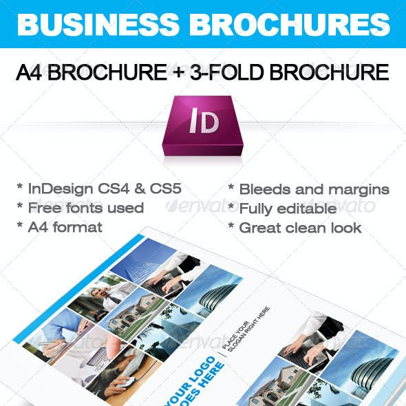 Business Brochure InDesign template (A4+ 3-fold)