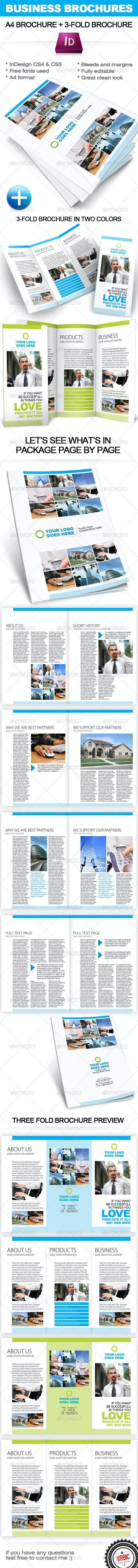 Business Brochure InDesign template (A4+ 3-fold) - Corporate Brochures