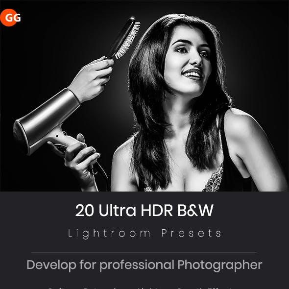 20 Ultra HDR B&W Lightroom Preset V3