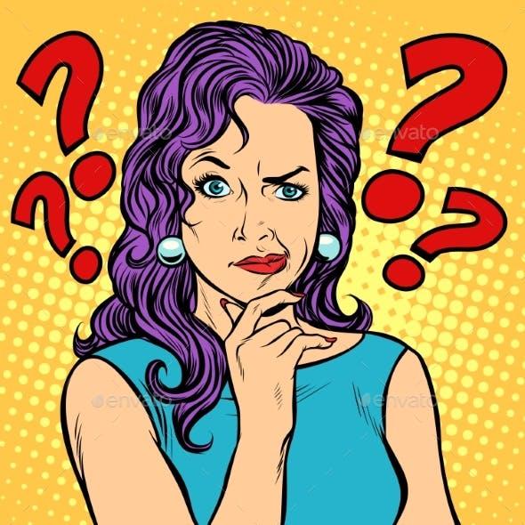 Woman Skeptical Facial Expressions Face