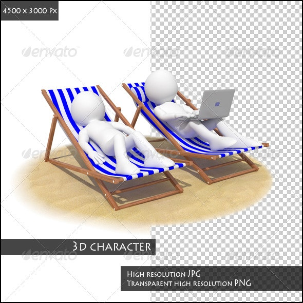 Couple in the Beach - 3D Renders Graphics