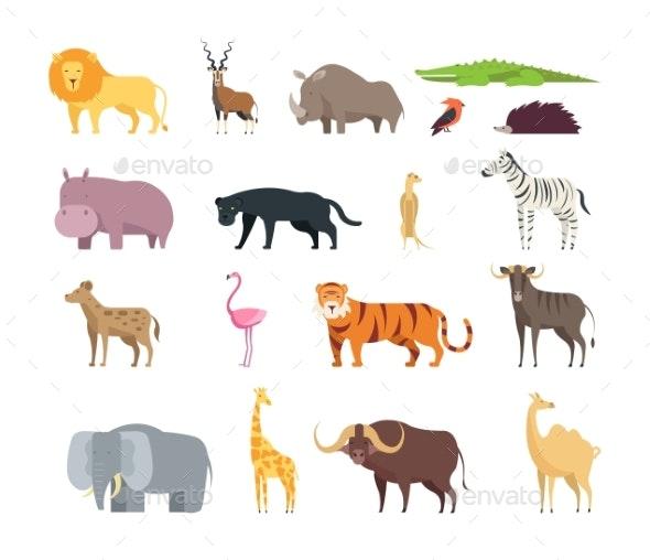 Cartoon African Savannah Animals - Animals Characters