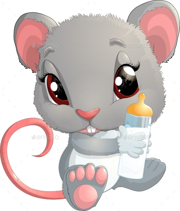 House Mouse - Illustration - Animals Characters