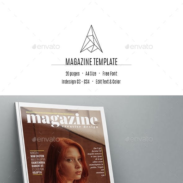 Magazine Template 20 Pages