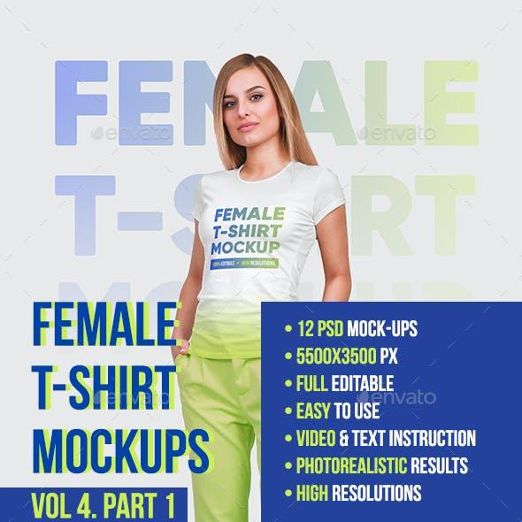 Female T-Shirt Mockups Vol4. Part 1