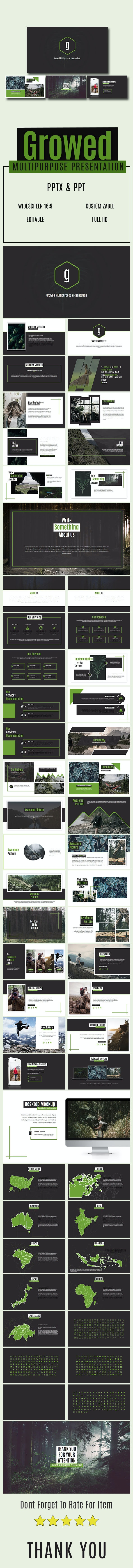 Growed Multipurpose Presentation - Abstract PowerPoint Templates