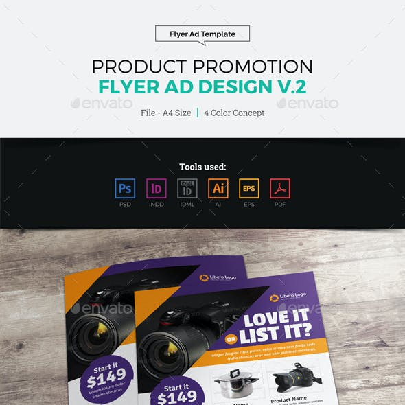 Product Sale Promotion Flyer Ad Design v2