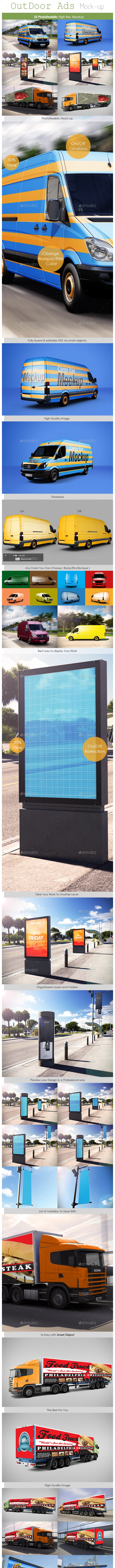 Outdoor Ads Mockup - Print Product Mock-Ups