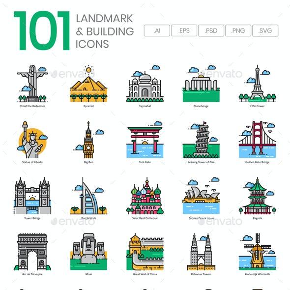 World Landmark Icons