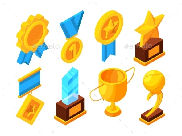 Medals of Honor and Different Sport Trophies - Man-made Objects Objects