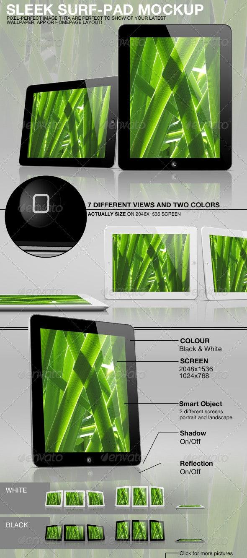 Sleek Surf-Pad Mockup - Mobile Displays