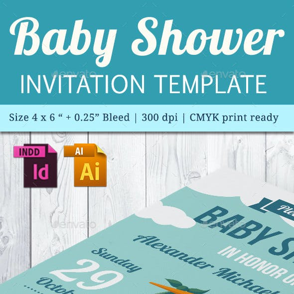 Baby Shower Template - Vol. 21