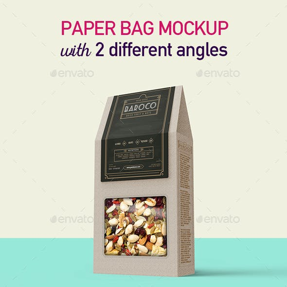 Paper Box Mockup with Customized Window Shape