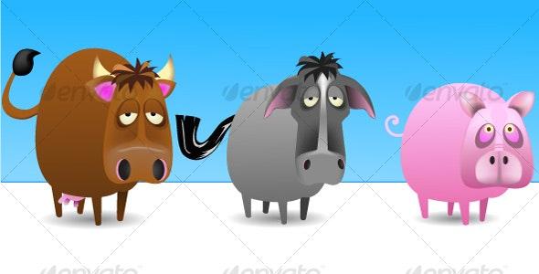 Farmyard Animals - Animals Characters