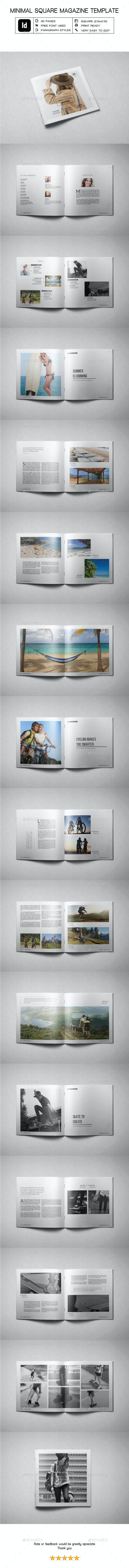 Minimal Square Magazine Template IV - Magazines Print Templates