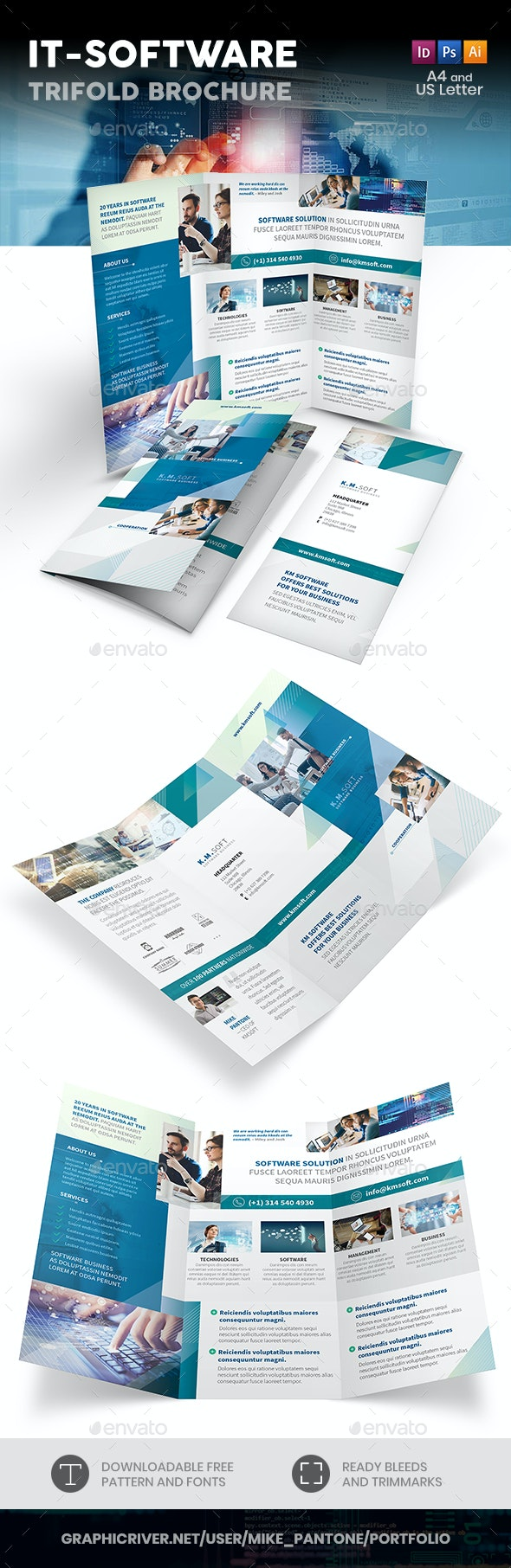 IT – Software Company Trifold Brochure - Informational Brochures