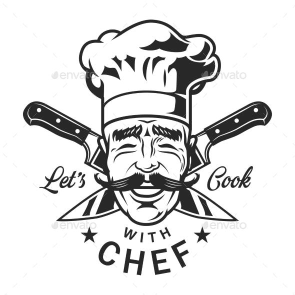 Vintage Restaurant Chef Emblem - Decorative Symbols Decorative