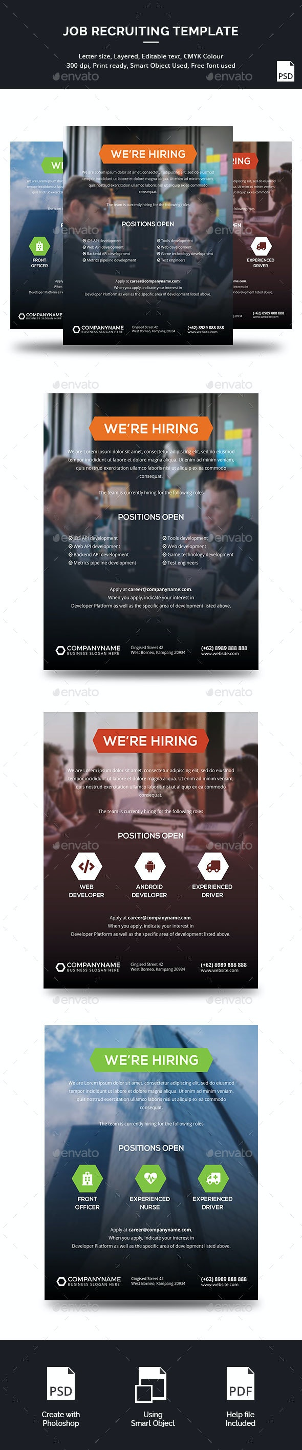 Hiring Template - Corporate Flyers