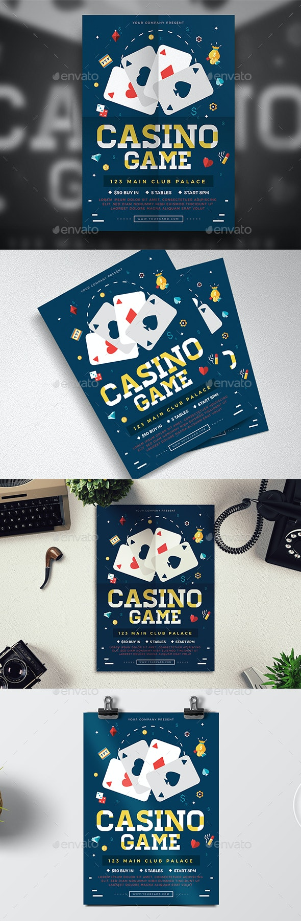 Poker Game Flyer - Events Flyers