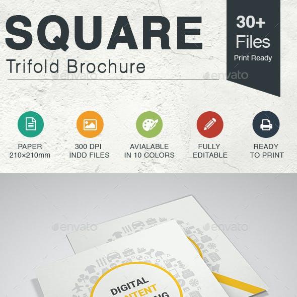 Content Marketing Square Trifold Brochure