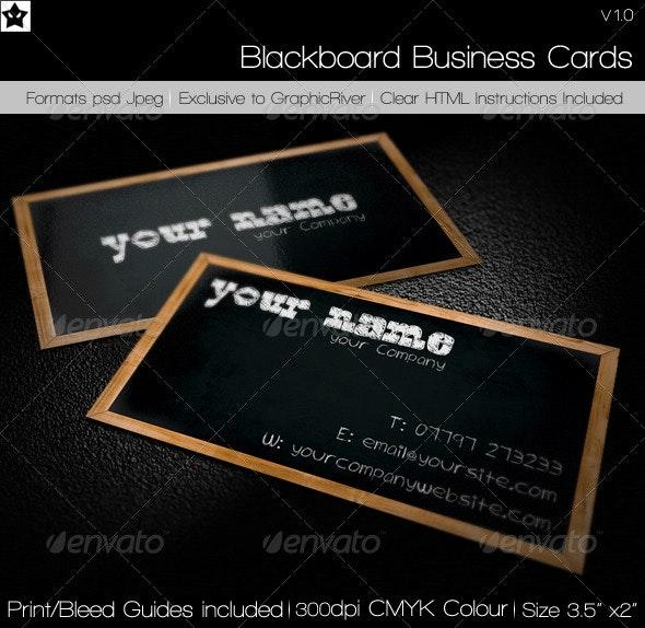 Blackboard Business Card - Creative Business Cards