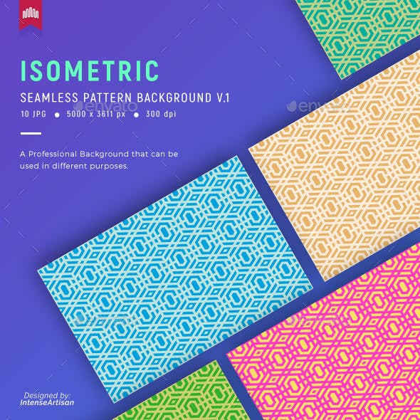 Isometric Seamless Pattern Background V.1