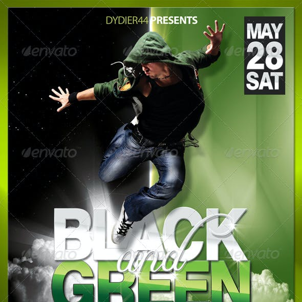 Black & Green (Flyer Template 4x6)