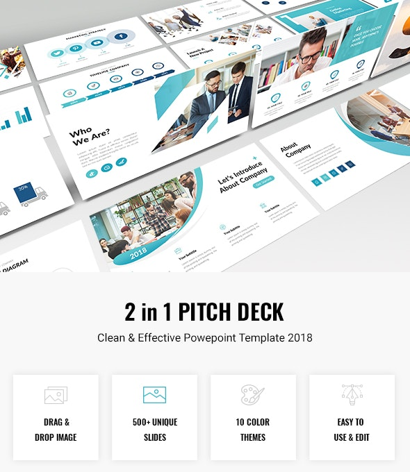 Bundle 2 in 1 Business Pitch Deck Powerpoint Template 2018 - Business PowerPoint Templates