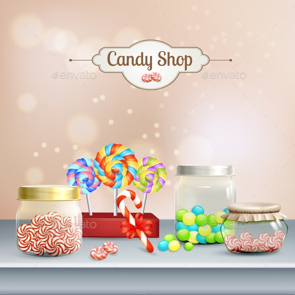 Candy Shop Composition - Food Objects