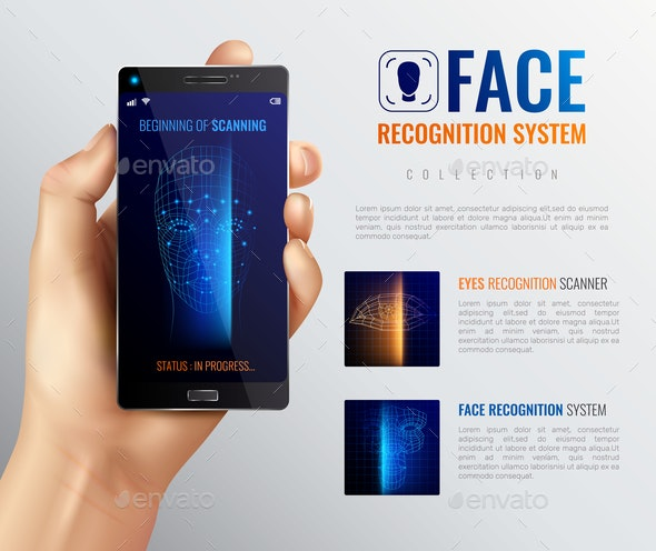 Face ID Recognition Background - Computers Technology