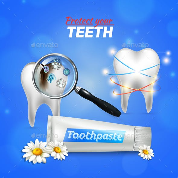 Tooth Dental Care Realistic