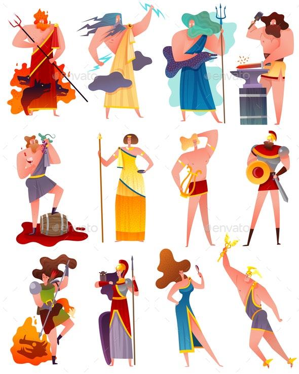 Greece Mythology Cartoon Set - Miscellaneous Characters
