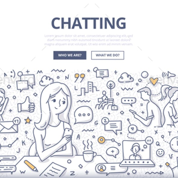 Chatting Doodle Concept