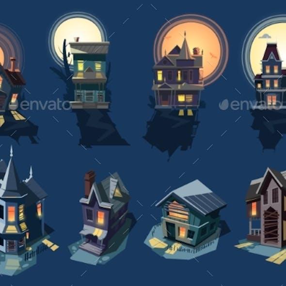 Spooky House Vectors