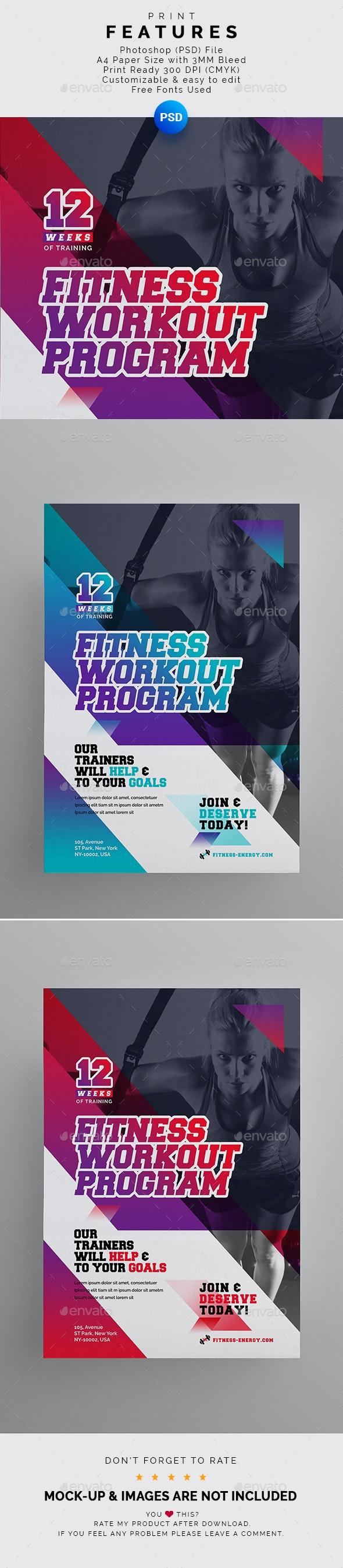 Fitness Flyer - Flyers Print Templates
