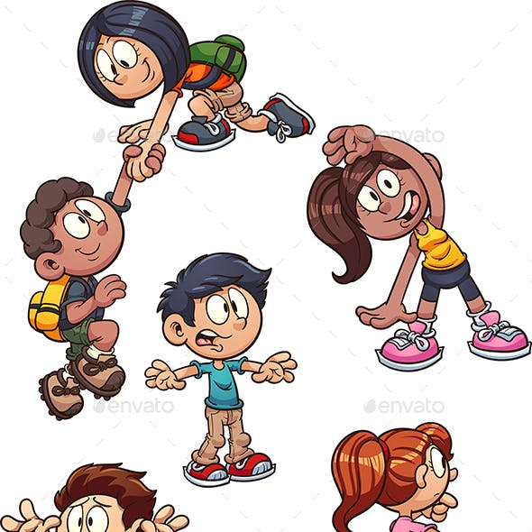 Cartoon Kids Actions