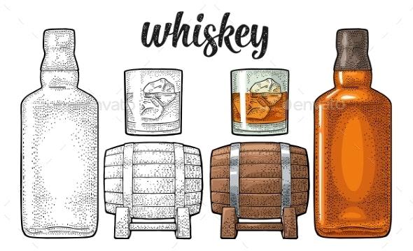 Whiskey Set - Miscellaneous Vectors