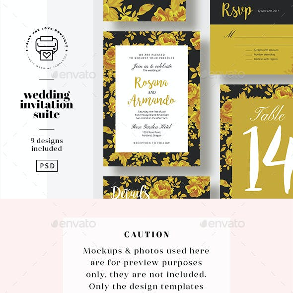 Wedding Invitation Suite 13