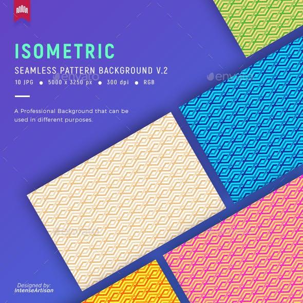 Isometric Seamless Pattern Background V.2