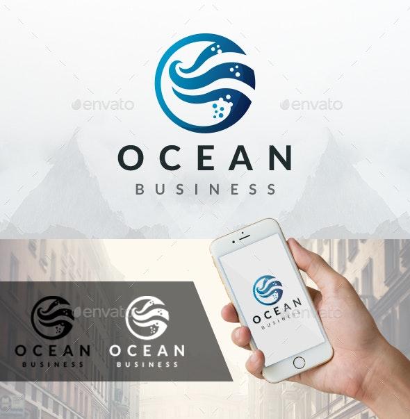Ocean Water Waves Logo - Nature Logo Templates