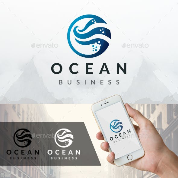 Ocean Water Waves Logo