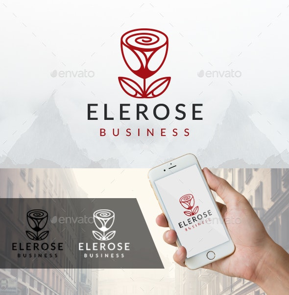 Elegant Rose Logo - Nature Logo Templates