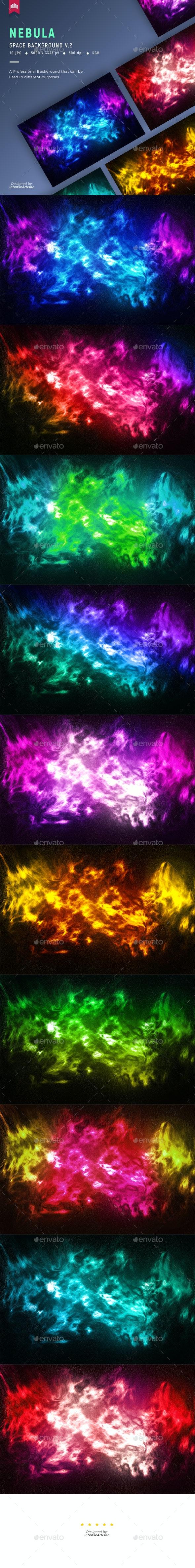 Nebula Space Background V.2 - Abstract Backgrounds