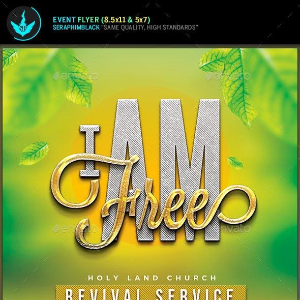 I Am Free Church Flyer Template
